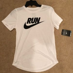 White Nike T-Shirt.